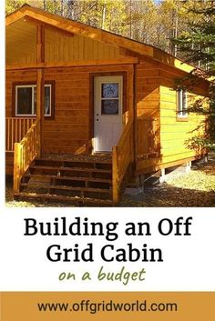 The biggest expenses when building your off grid cabin are materials and hardware. You must be creative in how and where you acquire materials, the tools, and the equipment needed to build your cabin if you want to keep it as inexpensive as possible. #offgrid #cabin #offgridliving #offgridcabin #diycabin Tiny House Cabin, Log Cabin Homes, Tiny House Plans, Tiny Houses, Log Cabins, Diy Cabin, Cabin Ideas, House Ideas, Building A Cabin