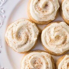 Melt-In-Your-Mouth Eggnog Cookies - Cooking Classy Cookie Desserts, Holiday Baking, Christmas Desserts, Just Desserts, Cookie Recipes, Delicious Desserts, Dessert Recipes, Delicious Cookies, Baking Desserts