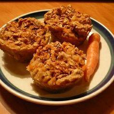 Homemade treats for Horses- Carrot apple cakes