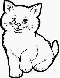 Gambar Kucing Sketsa : gambar, kucing, sketsa, Hasil, Gambar, Untuk, Sketsa, Kucing, Berwarna, Hewan,, Hewan