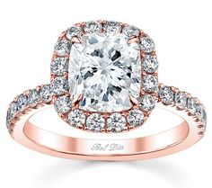 The ring of my dreams! Rose gold band, cushion cut diamond... Amazing.