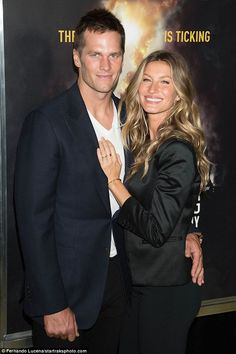 All smiles: Tom Brady and Gisele Bundchen made a very affectionate display while attending National Geographic's Years Of Living Dangerously season premiere in NYC on Wednesday Famous Couples, Couples In Love, Famous Women, Power Couples, Tom And Gisele, Tom Brady And Gisele, High Fashion Photography, Glamour Photography, Lifestyle Photography
