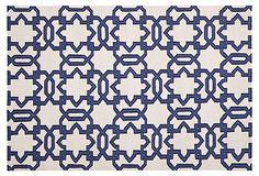 Chenor Handwoven Wool Dhurrie, Ivory/Purple; 2.5'x8'-9'x12'  159-999 - orig. 340-2430