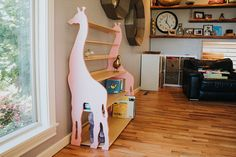 Modern Giraffe Bookshelf. Aesthetically Designed For Your