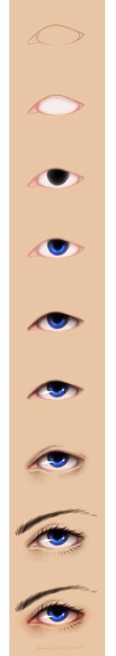 Eye Tutorial by ~bunnypirates by lllllol Tole Painting, Painting Tips, Painting Techniques, Painting & Drawing, Doll Eyes, Doll Face, Illustration Art, Illustrations, Eye Tutorial