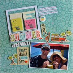 Samantha Walker's Imaginary World July Blog Hop.  Layout by @guiseppa_gubler using this month's FREE svg/studio file!!