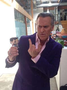 Bruce Campbell at IGN Entertainment March 9, 2015. Photo provided by Jim Vejvoda atStax IGN