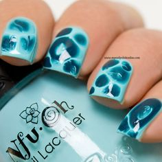 Blobbicure in teal - http://www.mynailpolishonline.com/2016/08/orly/blobbicure-in-teal/