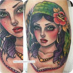 Tattoo artist - Dani Green in the Dame International (2 Sep 2014).