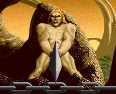 Barbarian Amiga By Psygnosis). Screenhot of game opening intro animatio History Of Video Games, Barbarian, Gaming Computer, Statue, Sculptures, Sculpture
