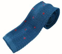 Nick Bronson - Embroidered Spot - Blue/Mauve http://heroesofrichmond.co.uk/brands/accessories/nick-bronson-tie/