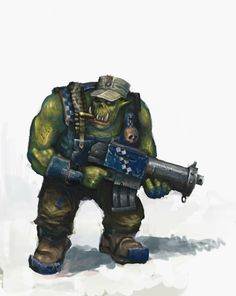 jolly-plaguefather:  This is a good ork. Cool hat, chomping a cigar, being a cool fungus!