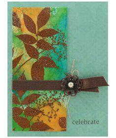 Stampendous » Leaf Sprig Birthday Card by Melinda Gleissner
