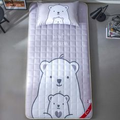 Check out this cute design on this small Japanese mattress--perfect for any small size bedroom or dorm room.   Great idea for clearing up space in your bedroom.