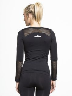 The Seamless Mesh Top by ADIDAS BY STELLA MCCARTNEY in Black