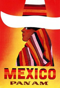 Vintage PanAm Mexico Poster
