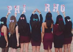 I can't get enough of these Phi Sigma Rho throw what you know pics!