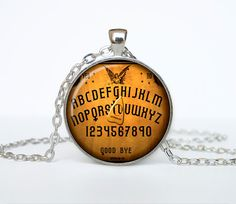 Halloween necklace Halloween pendant by outofspacejewelry on Etsy