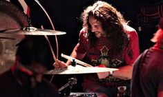 Nick Menza performs at Whisky a Go Go in 2013