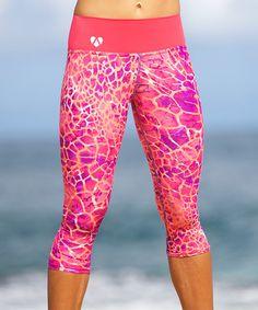 Love this Pink Desert Hannah Yoga Capri Leggings on #zulily! #zulilyfinds