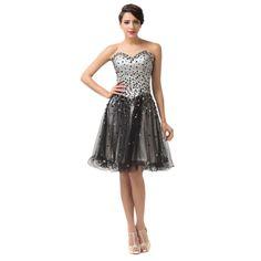 Čierne spoločenské šaty CL6137 Prom Party Dresses, Party Gowns, Formal Dresses, Lace Dress, Dress Up, Short Cocktail Dress, Cocktail Dresses, Sweetheart Prom Dress, Cheap Dresses