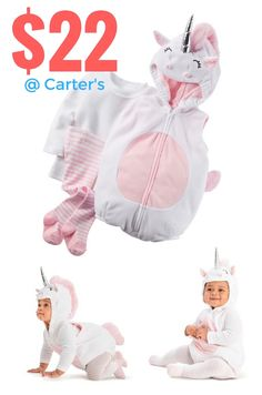 Fun halloween costumes for babies + babies dress up as unicorns + halloween inspiration for parents = baby costumes @ Carter's OshKosh