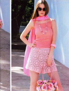 Crochet - a big summer time number of beautiful outfits (bryug, Irish and Romanian lace). Zhurnal Mod, Crochet Pants, Knit Crochet, Crochet Jumpsuits, Romanian Lace, Jumpsuit Pattern, Irish Lace, Beautiful Outfits, Lace Skirt