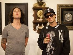 Mickey Avalon and Johnny G at the Sullen Art Collective's group art show. PHOTO BY DREW A. KELLEY FOR ORANGECOUNTY.COM