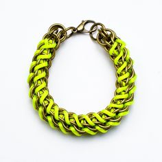 Mamazoo Neon Yellow Chain Bracelet Sooooooooooooo Meeeeeeeeeeeeeee!!!