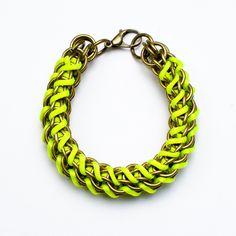 Neon Yellow Chain Bracelet / Mamazoo
