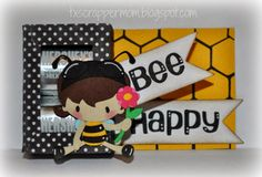 Bee Happy, SVG Cutting Files Mini Nugget Platform Box & Cute as Can Bee