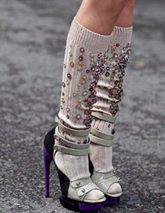 Balenciaga shoes, Miu Miu jewelled socks