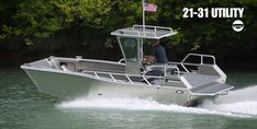 Munson 19' Series / Custom welded aluminum boats, landing craft, workboats, patrol boats, fire boats, passenger boats, dive boats, research boats, fishing boats, boom boats Landing Craft, Fishing Supplies, Aluminum Boat, Hunting Equipment, Fish Camp, Salt And Water, Fishing Boats, Diving, Magical Jewelry