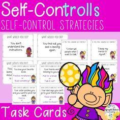 Self-Control Task Cards - Self-ConTROLLS