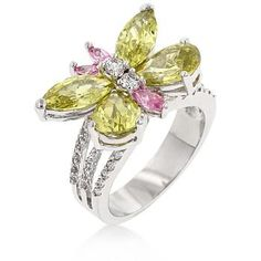 BUTTERFLY KISSES RING FREE SHIPPING SIZE 6