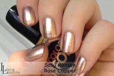 Sally Hansen Nail PolishRose Copper Titanium Flush | Sally Hansen Rose Copper is a pale rose gold chrome.