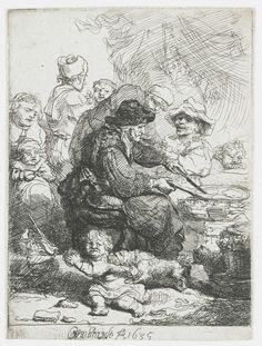 Блинщица (1635) (106 x 77 мм) (офорт). Rembrandt Harmensz van Rijn (1606-1669)