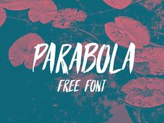 Parabola is a great handwritten Free Font for posters and headlines. This font is a really nice brush style which is available in the formats: OTF TTF and webfont kit. It looks great for any kind of project, specially design project that needs a handwritten font with a personal touch.
