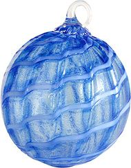 Seattle Washington artist Glass Eye Studio Glow Ornament Galaxy Blue