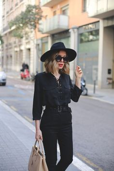 My Showroom Blog - all black. Work wear, wear to work.