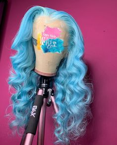 hacks every girl should know Full Lace Wig Blue Color Wave Human Hair Wig Pre Plucked Hairline Cute Hair Colors, Pretty Hair Color, Hair Colours, Colored Weave Hairstyles, Colored Wigs, Colored Hair, Curly Hair Styles, Natural Hair Styles, Birthday Hair