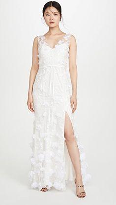 100 Wedding Gowns You'll Love! (Under $2,000)   The Perfect Palette Modest Wedding Dresses, Boho Wedding Dress, Boho Dress, Wedding Gowns, Prom Dress, Formal Dresses, Ball Dresses, Ball Gowns, Chiffon Flowers
