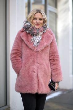 Laura Brown in a Whistles coat   - HarpersBAZAAR.com