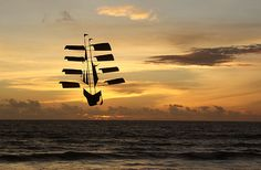 A flying boat in Bali by Don Taylor