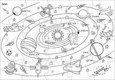 Najlepsze Obrazy Na Tablicy Kosmos 9 Kosmos Kolorowanki I