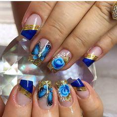 Rose Nails, Flower Nails, Gorgeous Nails, Pretty Nails, Daily Beauty Routine, Cute Nail Art Designs, Ballerina Nails, Nail Games, Beauty Guide