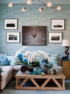 Kolor błękitny w salonie