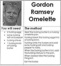 Gordon Ramsey Omelette....I'm laughing more than I should be