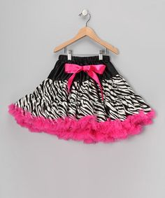 Take a look at this Hot Pink Zebra Pettiskirt - Infant, Toddler & Girls by Dance Bug on #zulily today!