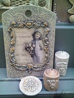 news - Crafts Christmas Scenes, Christmas Makes, Diy And Crafts, Arts And Crafts, Iron Orchid Designs, Decoupage Vintage, Frame Crafts, Paper Clay, Handmade Home Decor